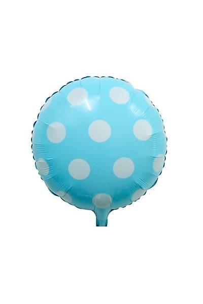 Mavi Puantiyeli Folyo Balon 40 cm