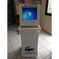 22 inc Çelik Klavyeli Termal Yazýcýlý Dokunmatik Ekran Kiosk Sistemi
