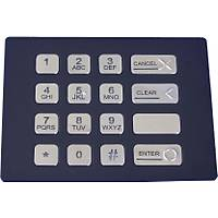 K-TEK-B120KP Tuþ Takýmý 16-KEY KEYPAD PANEL-MOUNT STAINLESS STEEL VANDAL-PROOF