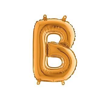 B Harfi Gold Renk Folyo Balon 100cm