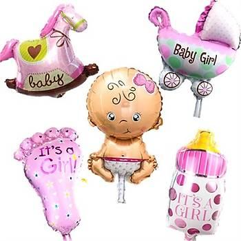 Pembe Bebek Folyo Balon 5'li Set
