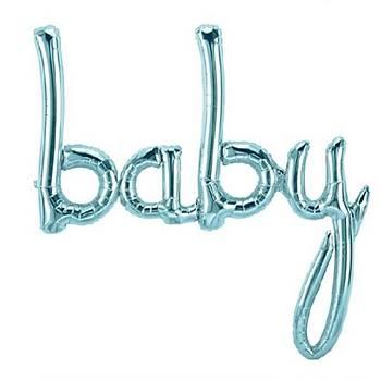 Mavi Baby Folyo Balon 83 cm