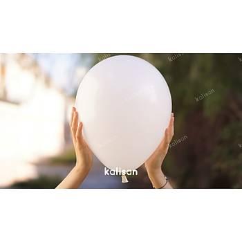 Beyaz Dekorasyon Balonu 12 inc – 30 cm 50 Adet