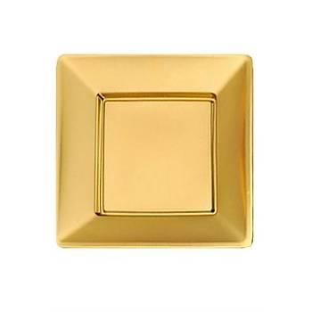 Kare Gold Metalize Karton Tabak 6'lý 29 cm