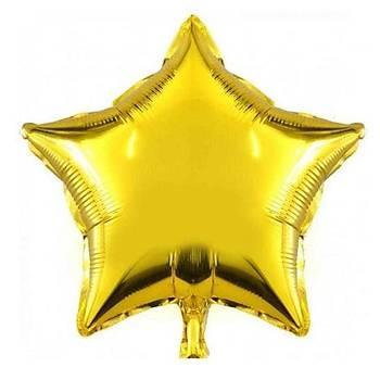 Gold Yýldýz Folyo Balon 40 cm