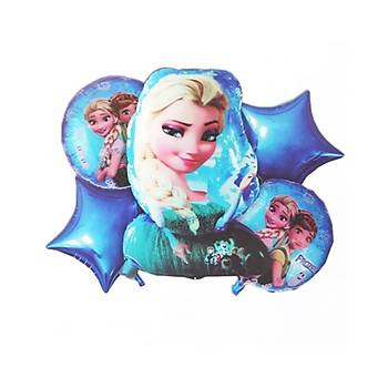 5'li Frozen Elsa Folyo Balon Seti
