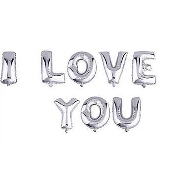 Gümüþ I Love You Folyo Balon Seti