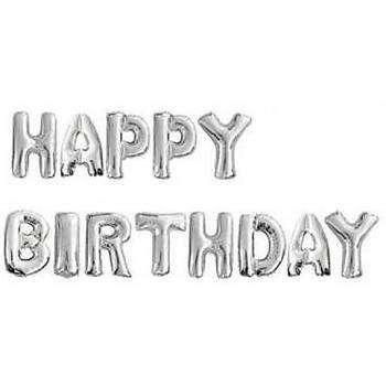 Gümüþ Happy Birthday Folyo Balon