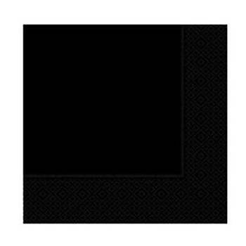 Düz Siyah Peçete 16'lý