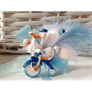 Bisikletli Leylek Biblolu Bebek Þekeri