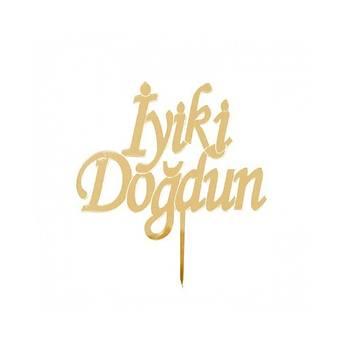 Gold Pleksi Ýyiki Doðdun Pasta Süsü
