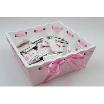 100 Adet Madlen Bebek Çikolatasý ve Sepeti