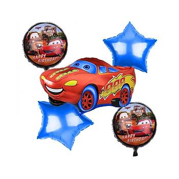 5'li Cars Mc Quinn Folyo Balon Seti