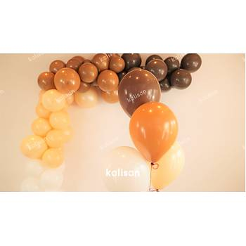 Çikolata Kahve Dekorasyon Balonu 12 inc – 30 cm 50 Adet