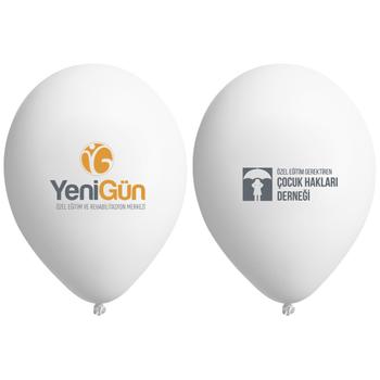 Logo Baskýlý Balon 12 inc 1000 Adet - 2+1 veya 3+0