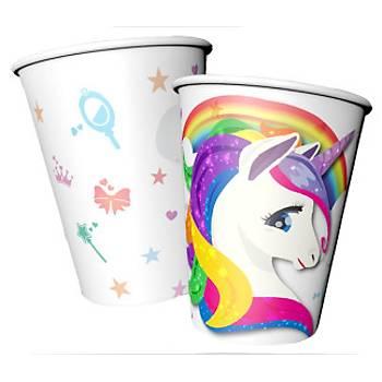 Unicorn Karton Bardak 8'li