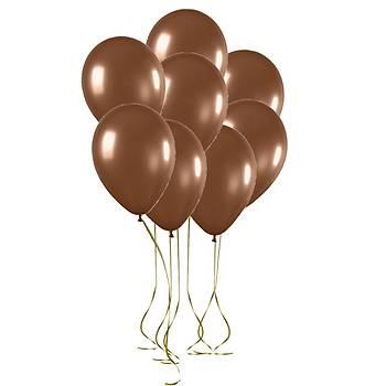 Kahverengi Metalik Balon - 50 Adet