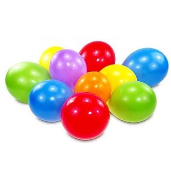 Karýþýk Renk Metalik Balon - 50 Adet
