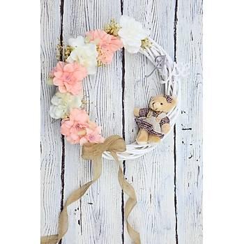 Çiçekli Bebek Kapý Süsü