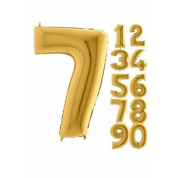 7 Rakam Gold Renk Folyo Balon 60cm