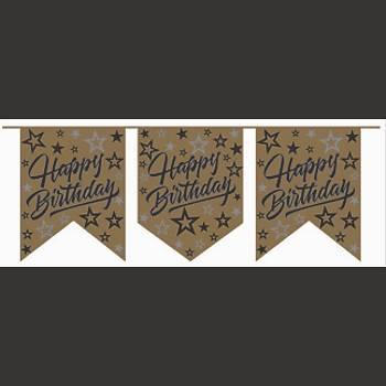 Gold Happy Birthday Flama