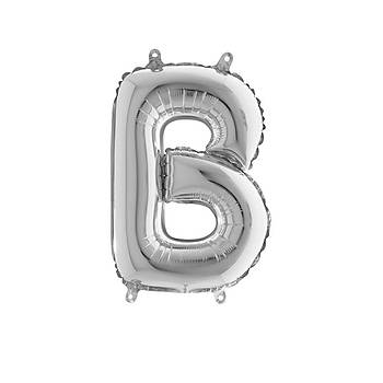 B Harfi Gümüþ Renk Folyo Balon 100cm