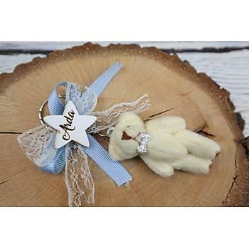 Bebek Hediyelik - Ayýcýk Anahtarlýk Bebek Þekeri - 6 cm
