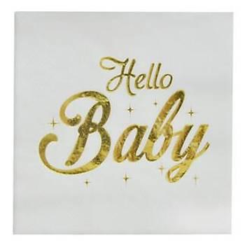 Varak Baskýlý Hello Baby Peçete  16'lý