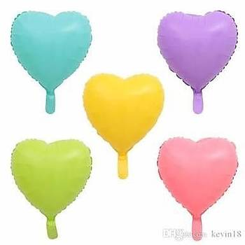 Makaron Kalp Folyo Balon 40 cm