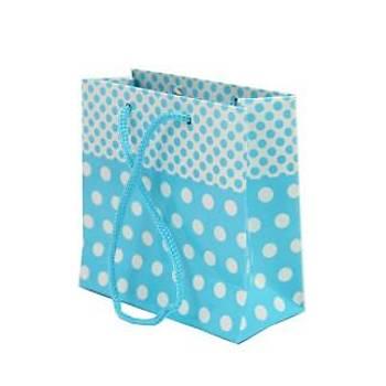 Küçük Mavi Karton Çanta 11-11 cm - 50 Adet