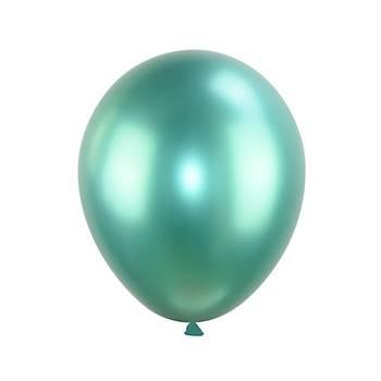 Yeþil Krom Balon 40 cm - 10 Adet