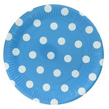 Mavi Puanlý Karton Tabak 8'li