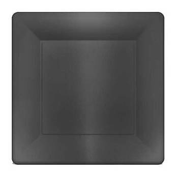 Kare Siyah Metalize Karton Tabak 6'lý 29 cm