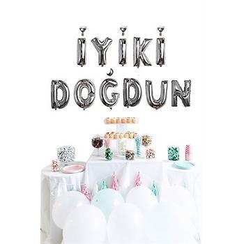 Gümüþ Ýyiki Doðdun Folyo Balon