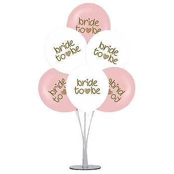 Bride Balonlu Balon Standý - 1 Adet Stand ve 10 Adet Bride Balon