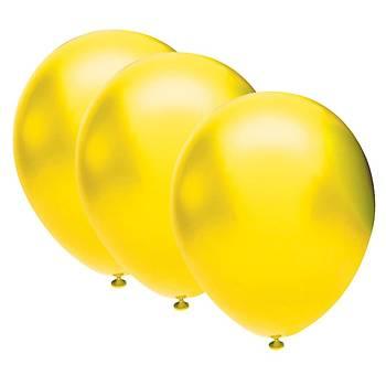 Sarý Metalik Balon - 100 Adet