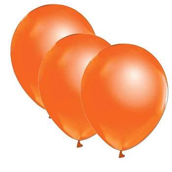 Turuncu Metalik Balon - 50 Adet