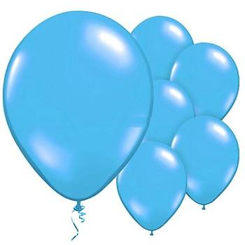 Mavi Metalik Balon - 50 Adet