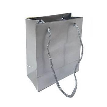 Küçük Gümüþ Karton Çanta 11-11 cm - 50 Adet