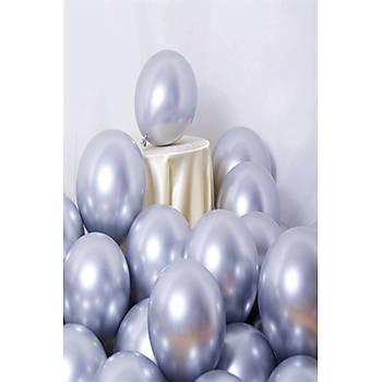 Gümüþ Krom Balon 40 cm - 50 Adet