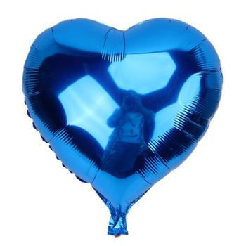 Lacivert Kalp Folyo Balon 40 cm