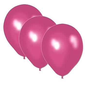 Fuþya Metalik Balon - 50 Adet