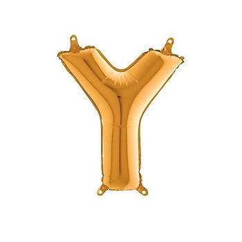 Y Harfi Gold Renk Folyo Balon 60cm