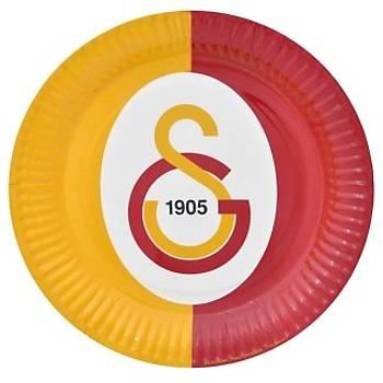 Lisanslý Galatasaray Temalý Karton Tabak 8'li 22 cm