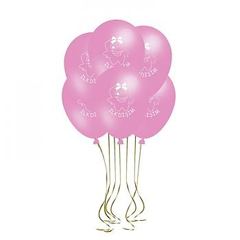 Pembe Ýlk Diþ Balonu – 30 cm 10 Adet