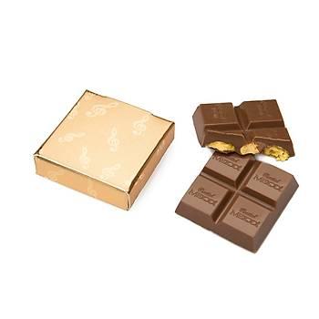 Gümüþ Renk Kuru Çiçekli Söz Niþan Çikolatasý