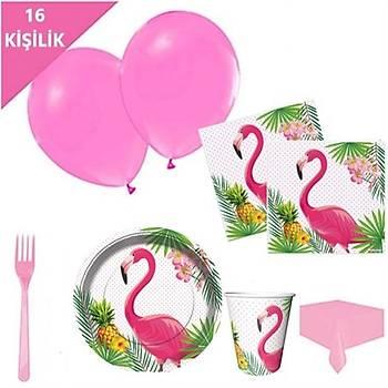 Flamingo Tabak Bardak Doðum Günü Seti 16'lý