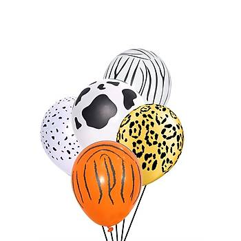 Safari Baskýlý Balon 12 inc – 30 cm 50 Adet