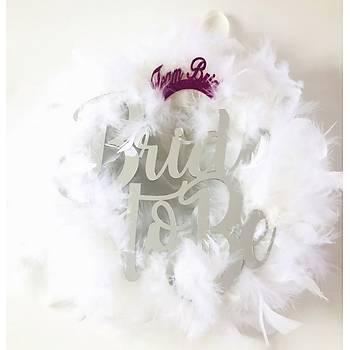 Bride To Be Tüylü Kapý Süsü