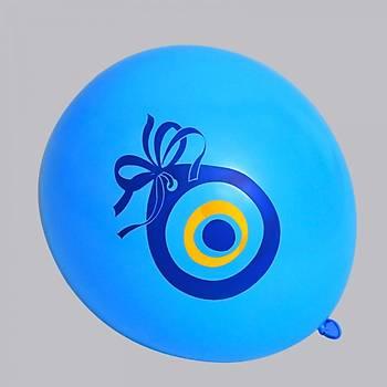 Mavi Nazar Boncuklu Balon – 30 cm 100 Adet